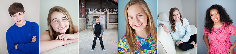 child actor model headshots raleigh, nc
