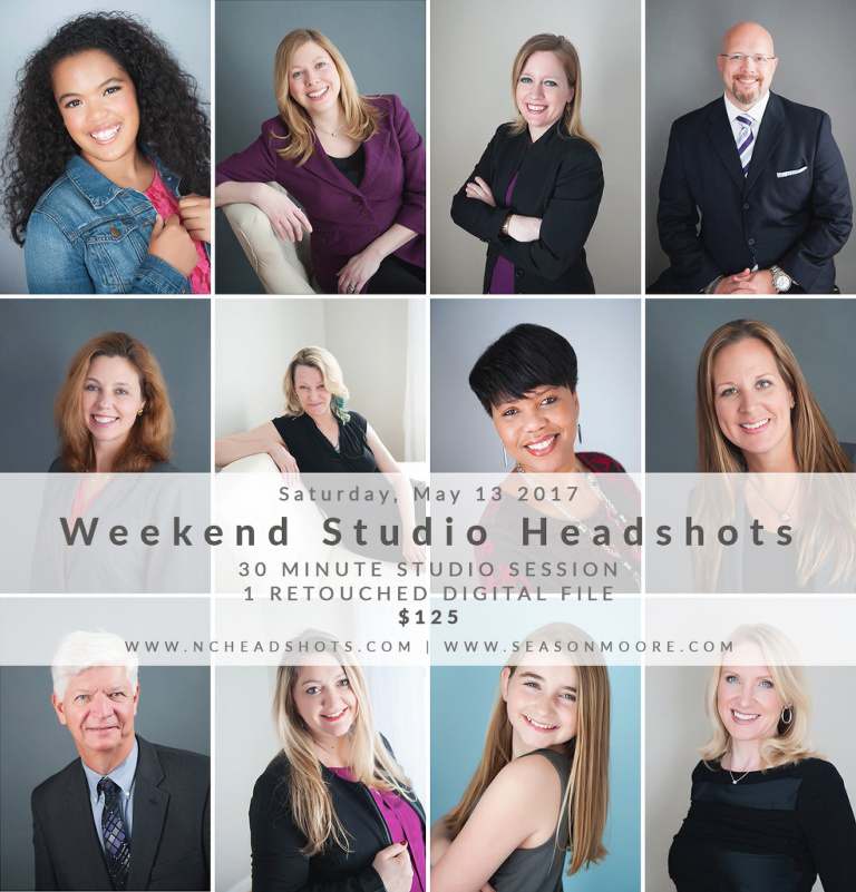 Saturday Raleigh Studio Headshots