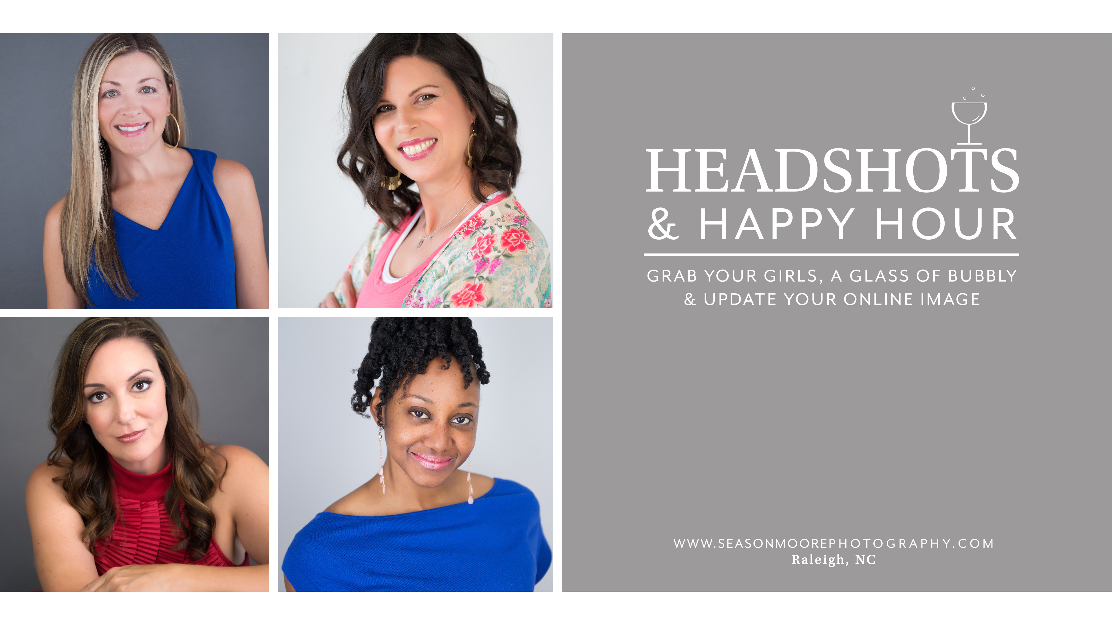 headshots happy hour raleigh professional networking